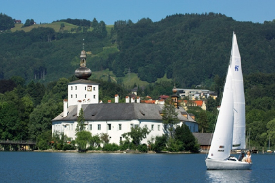 Gmunden at lake Traunsee